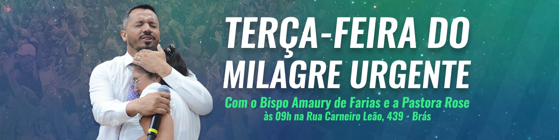 MIlagre Urgente - Bispo Amaury e Pastora Rose