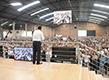 El apóstol bendice la ciudad brasileña de Curitiba, Paraná