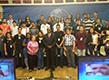Los jóvenes aprendices participan del programa al vivo