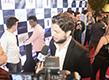 Nominees give interview at the entrance of the event