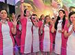 A Crowd Of Women Pray In Rio Grande Do Sul